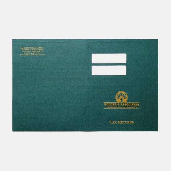 luxury conformer pocket presentation folder
