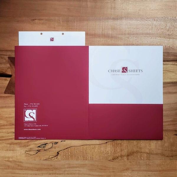 luxury embossed presentation folders