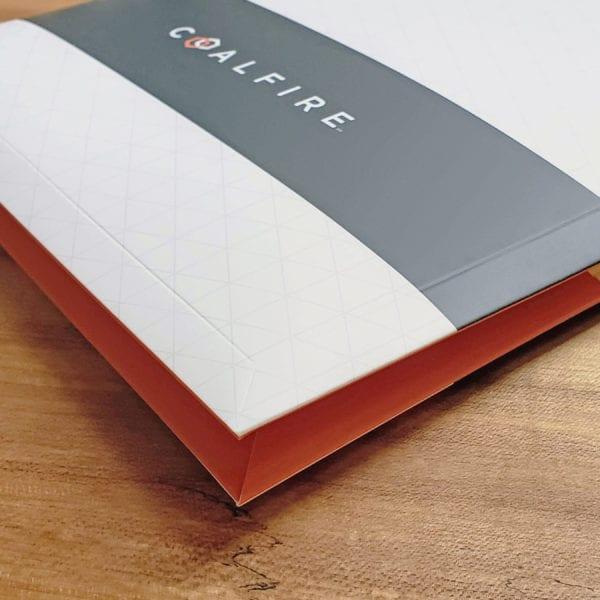 Custom embossed two pocket folder