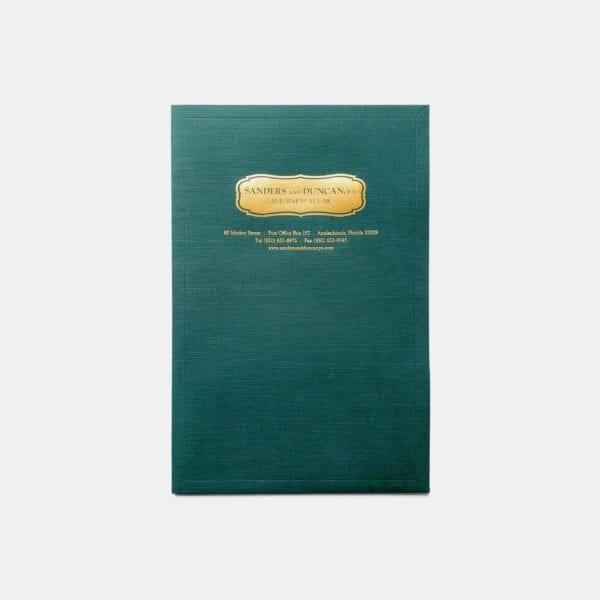 Two pocket legal folder