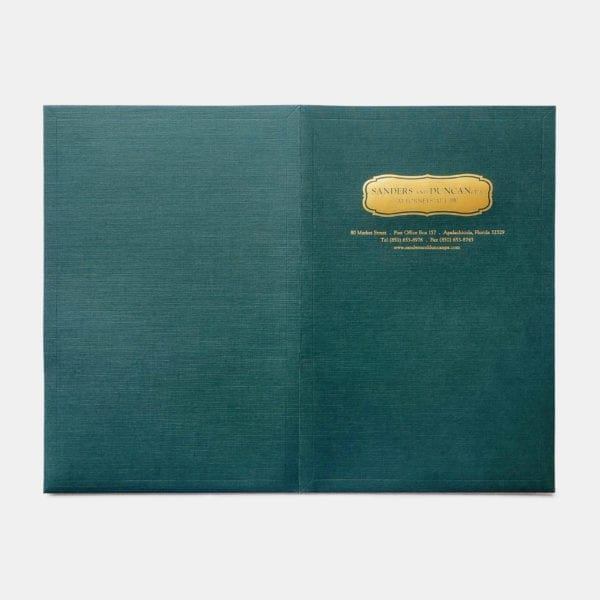 Embossed custom twin pocket presentation and business folders