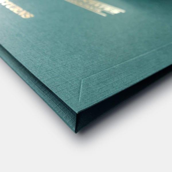 luxury linen presentation folders