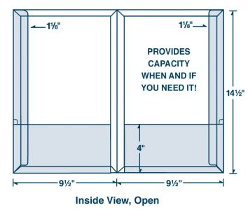 business and presentation folders dimensions